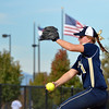 Frederick's pitcher Kait Hoffmann throws against Ponderosa during Friday's state softball championships at Aurora Sports Park.<br /> <br /> October 19, 2012<br /> staff photo/ David R. Jennings