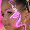 Kimberly Dorian, 4, had a unicorn painted on her face during Sunday's Summer Sundays Finale Carnival and Concert for the Broomfield Council on the Arts and Humanities at the Brunner House.<br /> <br /> August 9, 2009<br /> staff photo/David R. Jennings
