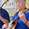 Mile High Banjo Society member Ray Bubick plays his banjo during the concert for Summer Sundays at the Brunner Farmhouse on Sunday.<br /> <br /> <br /> July 8, 2012<br /> staff photo/ David R. Jennings