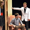 Andrew Lyle, 18, right, playing Eddie McCuen, speaks to anthony Smith, 17,  playing  Patrick O'Reilly, and Alexa Brown, 17, left, playing Nikki Crandall  during rehearsal for the Summer Youth Players production of The Musical Comedy Murders of 1940 at Legacy High School.<br /> June 14, 2012 <br /> staff photo/ David R. Jennings