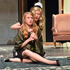 Megan Martin, 13, left, playing Bernice Roth, is startled by Meghan Brozovich, 12, playing Helsa Wenzel during rehearsal for the Summer Youth Players production of The Musical Comedy Murders of 1940 at Legacy High School.<br /> June 14, 2012 <br /> staff photo/ David R. Jennings
