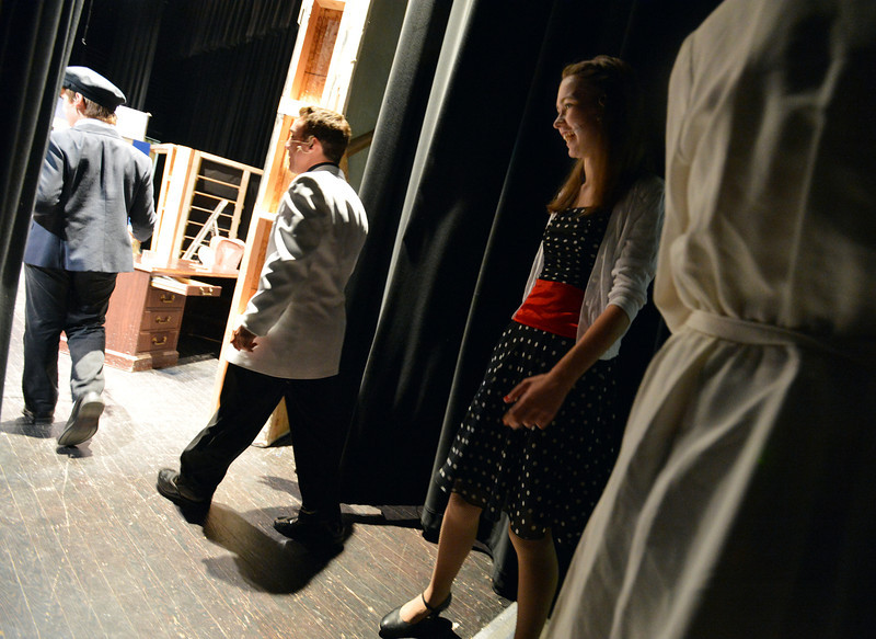 Summer Youth Players cast prepare go on stage for rehearsal of  The Musical Comedy Murders of 1940 at Legacy High School.<br /> June 14, 2012 <br /> staff photo/ David R. Jennings