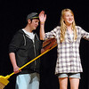 Megan Martin, 11, raises her arms as Beau Clayton reads the lines of Glenda during the Summer Youth Players tech rehearsal of The Wizard of Oz at Broomfield High School on Saturday.<br /> June 18, 2011<br /> staff photo/David R. Jennings