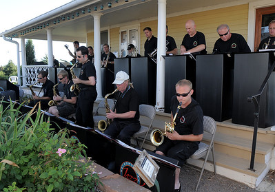 Big band sounds of the Metropolitan Jazz Orchestra entertain the audience during the Summer Sundays at the Brunner Farmhouse sponsored by the Broomfield Council on the Arts and Humanities on Sunday.  August 7, 2011 staff photo/ David R. Jennings