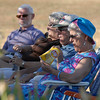 Members of the audience try to stay in the shade whie listening to the music of the Metropolitan Jazz Orchestra during Summer Sundays at the Brunner Farmhouse sponsored by the Broomfield Council on the Arts and Humanities on Sunday.<br /> <br /> August 7, 2011<br /> staff photo/ David R. Jennings