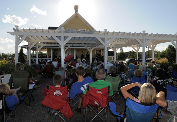 Audience members listen to the big band music of the Metropolitan Jazz Orchestra during Summer Sundays at the Brunner Farmhouse sponsored by the Broomfield Council on the Arts and Humanities on Sunday.<br /> <br /> August 7, 2011<br /> staff photo/ David R. Jennings