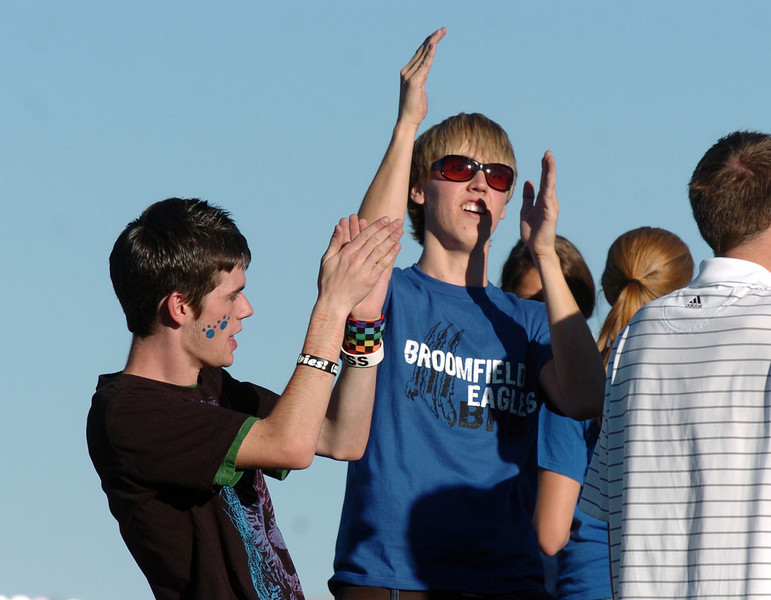 BE0919tail07<br /> Andrew Hecocks, 17, and Shane Black, 17, dance at the tailgate party before Saturday's cross town game at Elizabeth Kennedy Stadium..<br /> <br /> September 11, 2010<br /> staff photo/David R. Jennings