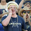"Legacy senior Ty Overboe, center, cheer on the LIghtning during Friday's ""Backyard Brawl"" Legacy vs. Broomfield at North Stadium.<br /> September 9, 2011<br /> staff photo/ David R. Jennings"