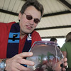 Pastor Thomas Cross of the Broomfield United Methodist Church blesses Einstein a Beta fish owned by Kyle Winchell, 12 during the blessing of the animals at Community Park on Saturday.<br /> October 1, 2011<br /> staff photo/ David R. Jennings