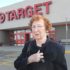 Betty Dalton leaves the Broomfield Target  after shopping on the last day of the store on Saturday.<br /> January 26, 2012<br /> staff photo/ David R. Jennings