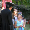 Katie Duffy, 10, center, playing Snee listens to Peter Buchholtz, 13, playing Captain Hook while holding Jaelynn Martinez, 9, playing Tiger Lily during Sunday's performance of Peter Pan by the Lemonade Players.<br /> <br /> <br /> June 26, 2011<br /> staff photo/ David R. Jennings