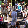 The audience of over 140 people watch and listen to Katherine Knudtsen, center, playing Wendy, sing a solo during Sunday's performance of Peter Pan by the Lemonade Players.<br /> <br /> June 26, 2011<br /> staff photo/ David R. Jennings
