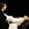 Thomas Roller, Raoul, sings to Audrey Felderman, Christine, expressing Raoul's love for Christine during dress rehearsal of Legacy High School's presentation of The Phantom of the Opera  on Thursday.<br /> February 9, 2012<br /> staff photo/ David R. Jennings