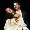Audrey Felderman as Christine and Schyler Vargus as the Phantom perform during dress rehearsal of Legacy High School's presentation of The Phantom of the Opera  on Thursday.<br /> February 9, 2012<br /> staff photo/ David R. Jennings