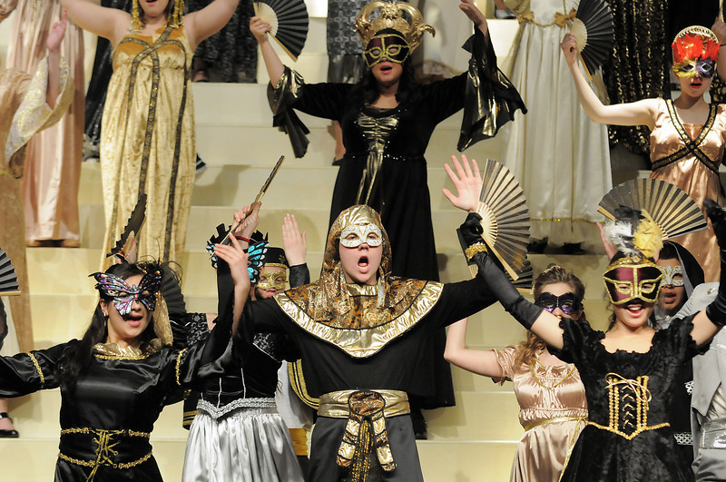Masquerade is performed by the cast during dress rehearsal of Legacy High School's presentation of The Phantom of the Opera  on Thursday.<br /> February 9, 2012<br /> staff photo/ David R. Jennings