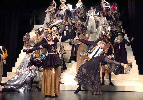 The masquerade ball performed by the cast during dress rehearsal of Legacy High School's presentation of The Phantom of the Opera  on Thursday.<br /> February 9, 2012<br /> staff photo/ David R. Jennings