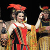Moorea Corrigan playing Carlotta the opera's prima donna sings with the cast during dress rehearsal of Legacy High School's presentation of The Phantom of the Opera  on Thursday.<br /> February 9, 2012<br /> staff photo/ David R. Jennings
