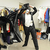 Schyler Vargus as the Phantom gets dressed before the dress rehearsal of Legacy High School's presentation of The Phantom of the Opera  on Thursday.<br /> February 9, 2012<br /> staff photo/ David R. Jennings