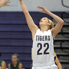 "Holy Family's Stephanie Giltner goes to the basket against St. Mary's during the 2011 Tiger Tip-off championship game at Holy Family on Saturday.<br /> More photos please see  <a href=""http://www.broomfieldenterprise.com"">http://www.broomfieldenterprise.com</a><br /> December 8, 2011<br /> Staff photo/ David R. Jennings"