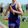 Holy Family's Zach Disberger runs the last leg of the 4X800 meter relay during Saturday's Tiger Tornado Invitational trackmeet at Mike G. Gabriel Stadium.<br /> May 05, 2012 <br /> staff photo/ David R. Jennings