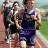 Holy Family's Sean Ankarlo running in the 1600 meter run during Saturday's Tiger Tornado Invitational trackmeet at Mike G. Gabriel Stadium.<br /> May 05, 2012 <br /> staff photo/ David R. Jennings