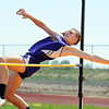 Holy Family's Kassy Johannsen clearing 4 foot 10 inches in the high jump during Saturday's Tiger Tornado Invitational trackmeet at Mike G. Gabriel Stadium.<br /> May 05, 2012 <br /> staff photo/ David R. Jennings