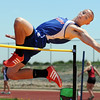 Centaurus' Trent Koch clears the bar in the high jump during Saturday's Tiger Tornado Invitational trackmeet at Mike G. Gabriel Stadium.<br /> May 04, 2012 <br /> staff photo/ David R. Jennings