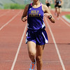 Holy Family's Lindsey Chavez running in the 1600 meter run during Saturday's Tiger Tornado Invitational trackmeet at Mike G. Gabriel Stadium.<br /> May 05, 2012 <br /> staff photo/ David R. Jennings