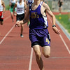 Holy Family's Sean Ankarlo crosses the finish line in the 1600 meter run during Saturday's Tiger Tornado Invitational trackmeet at Mike G. Gabriel Stadium.<br /> May 05, 2012 <br /> staff photo/ David R. Jennings
