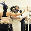 Tobi Compton, left, wife of the preacher, and Chris Meis, the preacher, dances in the wedding ceremony during rehearsal for the Ascential Dance Theatre Colorado production of Time of the Preacher (based on Willie Nelsons Red Headed Stranger) at a studio in Lousiville on Friday.<br /> March 16,  2012 <br /> staff photo/ David R. Jennings