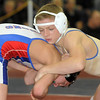 Broomfield's John Stelling wrestles Zach Finesilver, Cherry Creek in the 112 lb. weight class third place match during the finals of the Top of the Rockies Wrestling Tournament at Centaurus High School on Saturday. <br /> <br /> January 22, 2011<br /> staff photo/David R. Jennings