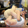 Broomfield's Connor King wrestles Tony Garcia, Rio Rancho in the 171 lb. weight class third place match during the finals of the Top of the Rockies Wrestling Tournament at Centaurus High School on Saturday. <br /> <br /> January 22, 2011<br /> staff photo/David R. Jennings