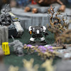 Warhammer 40k pieces are set in an elaborate environment during a game at Total Escape Games on Thursday. The gaming store is holding a ThanksGaming Day fundraiser for Broomfield FISH.<br /> October 25, 2012<br /> staff photo/ David R. Jennings