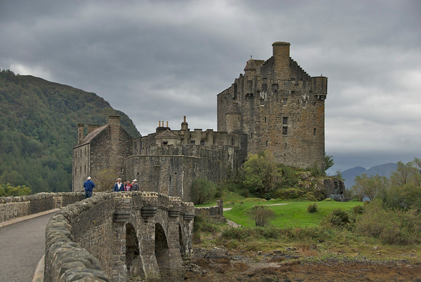 Eilean Donan Castle – the most photographed castle in Scotland -- from 1912 to 1932 was rebuilt from original foundations. <br /> <br /> photo/Gerry Case