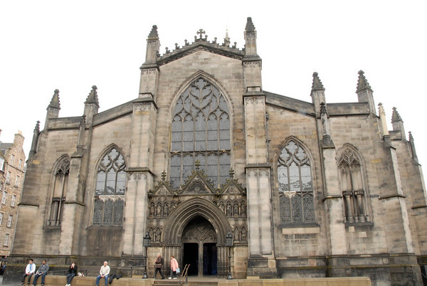 St. Giles Cathedral in Edinburgh, the mother church of Presbyterianism. It is about 900 years old.<br /> <br /> photo/Gerry Case