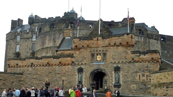Mighty Edinburgh Castle dominates the city.<br /> <br /> photo/Gerry Case