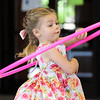 Addison Goff, 3, plays with a hhula hoop before the fun movement workshop during the Broomfield Trail Adventure and Children's Wellness day at Anthem Highlands Parkside Community Center on Saturday.<br /> June 5, 2010<br /> Staff photo/ David R. Jennings