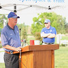 Broomfield Mayor Pat Quinn opens the festivities during theNational Trails Day event at the Broomfield Commons on Saturday. Photo by Matt Kelley.