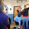 Gary Hodge, left, and Zach Brunetti pose for pictures wearing their tutu's at the Turquoise Mesa Winery wine club tasting event on Saturday.<br /> Wine tasters who wore tutu's in conjunction with 2/2/2013, were given a prize for their efforts.<br /> February 2, 2013<br /> staff photo/ David R. Jennings