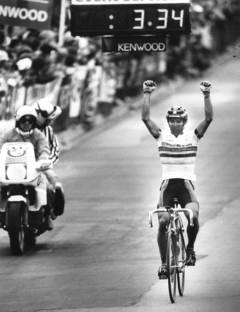 Coors International Bicycle Classic. 1987 Winner of Boulder stage, Moreno Argentin. Duane Howell, The Denver Post