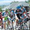 Peter Stetina, in the Garmin-Cervelo kit, rides in Stage 5 of the 2011 Tour of Utah,  Park City to Snowbird, Utah. Aug. 14, 2011