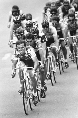 Coors International Bicycle Classic. 1986  Bernard Hinault in the lead.