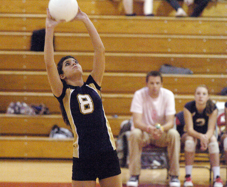 Legacy's Hilda Taheran sets the ball against Fairview during Tuesday's game at Fairview.<br /> <br /> October 12, 2010<br /> staff photo/David R. Jennings