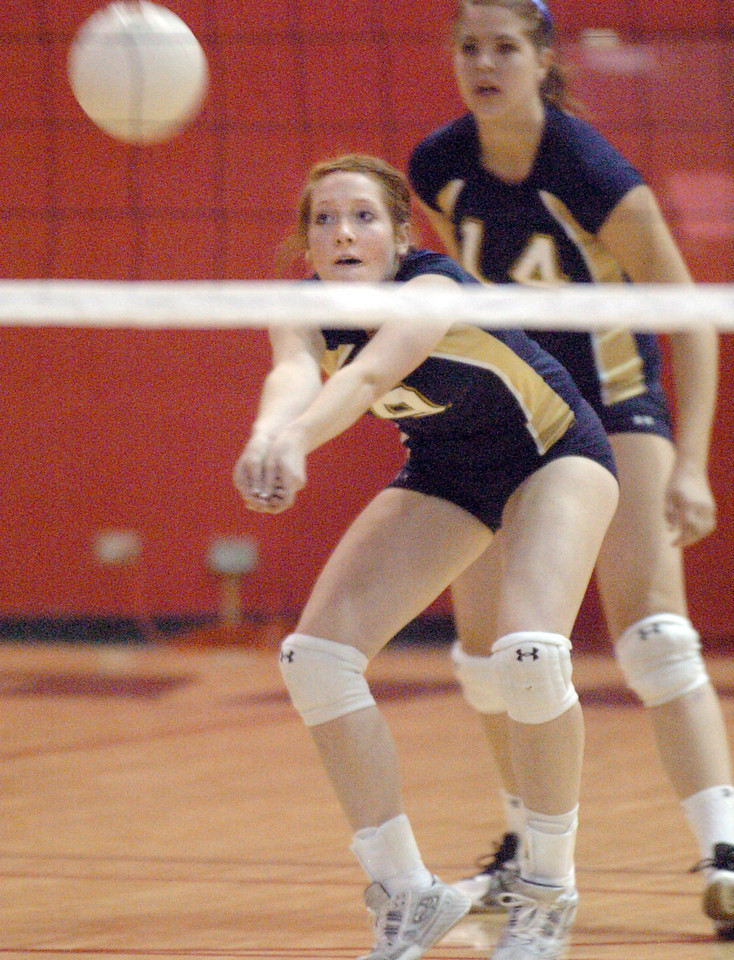 Legacy's Kendra Weiss returns the ball against Fairview during Tuesday's game at Fairview.<br /> <br /> October 12, 2010<br /> staff photo/David R. Jennings