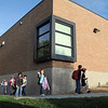Birch Elementary School students walk to classes after  Walk To School Day on Wednesday. <br /> October 5, 2011<br /> staff photo/ David R. Jennings