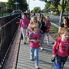 Emerald Elementary School students walk around the school for Walk To School Day on Wednesday.<br /> October 5, 2011<br /> staff photo/ David R. Jennings