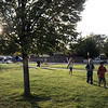Students walk to Birch Elementary School for Walk To School Day on Wednesday. <br /> October 5, 2011<br /> staff photo/ David R. Jennings