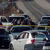 The scene of a shoot out with Westminster Police at eastbound 120th Ave. and Federal Blvd. on Thursday.<br /> Two Westminster officers were shot in the gun battle. Federal is closed both directions from Federal Blvd. to Pecos St.<br /> November 19, 2009<br /> Staff photo/David R. Jennings