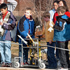 Students prepare to launch their rockets using a platform made by Lockheed Martin employees during the Rocket Works program Saturday at Mamie Doud Eisenhower Public Library.<br /> <br /> February 6, 2010<br /> Staff photo/David R. Jennings