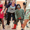 "Maggie Rieken, 6, dances to Michael Jackson's Thriller with 100 other ""zombies"" at the Paul Derda Recreation Center on Saturday as a fundraiser for A Precious Child. <br /> October 29, 2011<br /> staff photo/ David R. Jennings"